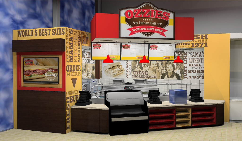 Ozzie's Deli - design for and installed in a Ricky Rockets C-store in Midlothian, IL.